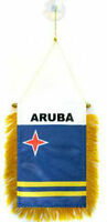 Wholesale Lot 3 Aruba Mini Flag 4x6 Window Banner W/ Suction Cup