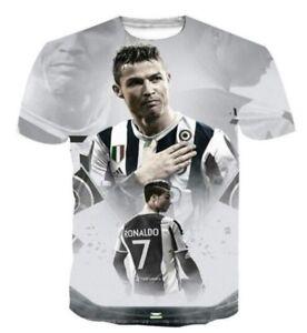 f2bd599a4 New Fashion Women Men s 3D Print Cristiano Ronaldo In Juventus T ...