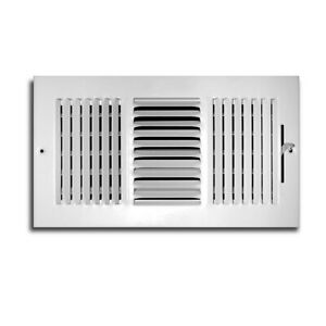 "12"" x 10"" 3 way Diffuser White Wall/Ceiling Register HVAC Vent Cover TruAire"