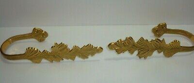 Shabby Chic Bird Curtain Drapery Tiebacks Holdback Acanthus Wall Plate Pair L//R