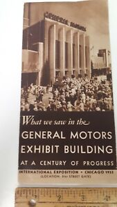 1933-GM-Exhibit-at-Chicago-World-039-s-Fair-Sepia-Brochure-Excellent-Condition-US