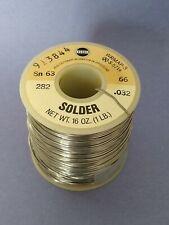 Kester Rosin Core Electronic Solder 6337 032 Dia 1 Lb Spool