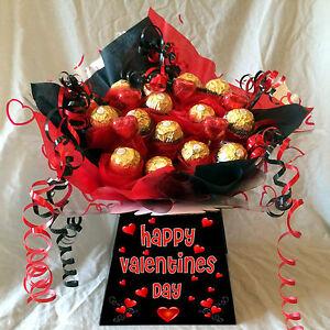 Personalised Valentines Ferrero Rocher Sweet Bouquet Chocolate