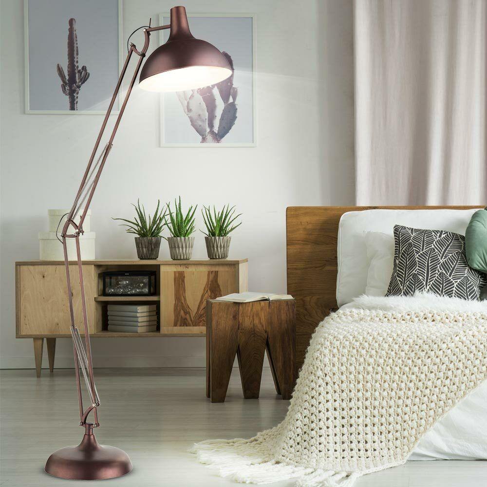 Große Steh Leuchte hochwertig Strahler beweglich Wohn Ess Zimmer Lese Lampe E27