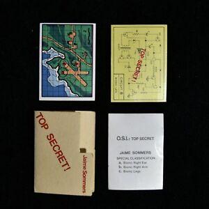 Vintage-Kenner-Oscar-Goldman-039-s-File-Set-2-For-Exploding-Briefcases-Mint