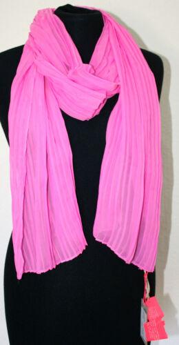 leichter Schal Halstuuch Faltenlook beere rosa sommerlich 180 cm  #XX Codello