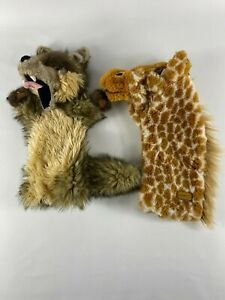 Fox-amp-giraffe-Glove-Puppet-by-The-Puppet-Company-free-delivery