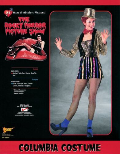 Ladies Columbia Costume Rocky Horror Show Halloween Fancy Dress Outfit