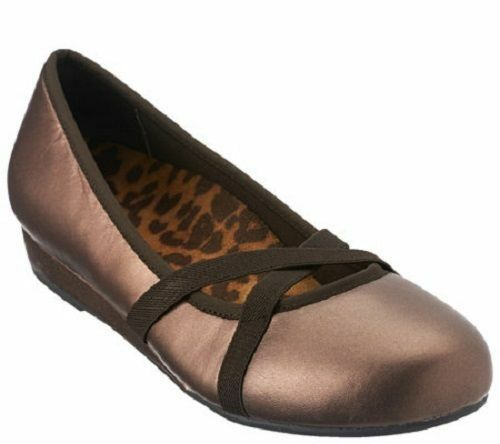 Vionic Orthaheel Solace Dakota Mini Wedges Bronze Schuhe 389DAKOTA Größe 8.5 8.5 Größe 521e7b