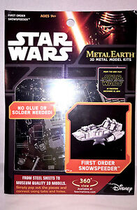 First Order Snowspeeder Star Wars EP7 Force Awakens 3D Model Kit Metal Earth NEW