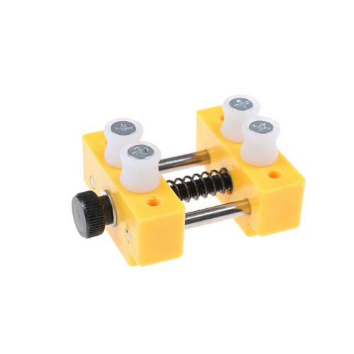 Mini table top bench vice vise press clamp rubber suction base yellow HF