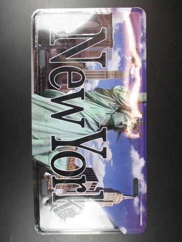 NEW YORK Metall Schild Skyline Freiheitsstatue,30cm,Empire,Brooklyn Bridge