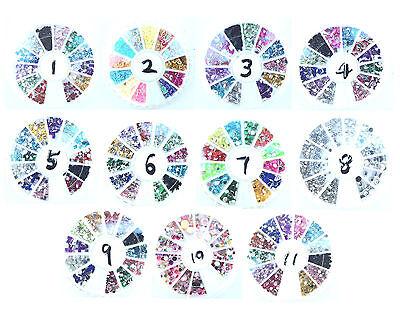 New Design Nail Art Rhinestones Glitters Gems Acrylic Tips Wheel Manicure Decora