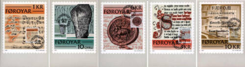 Faroe Islands 1981 Maxi (set 5) Historic Writings,Mint