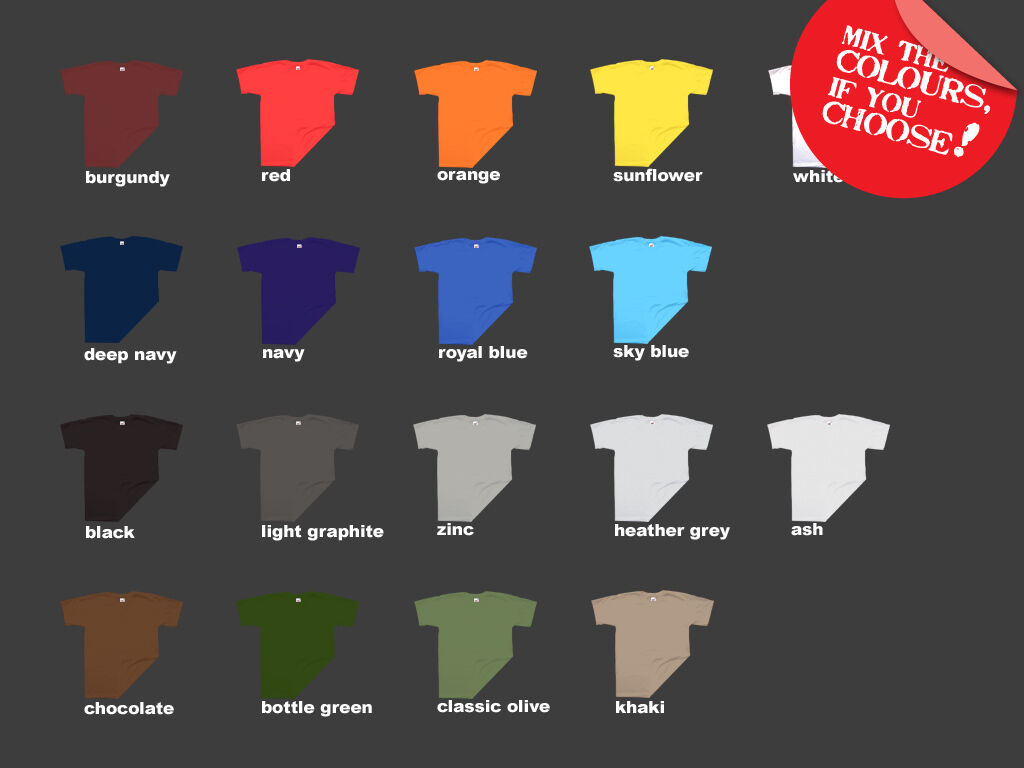 12 FRUIT of the LOOM 'SUPER PREMIUM' T-Shirt Mens S