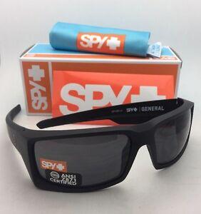 f13f7929c0 New SPY OPTIC Sunglasses GENERAL Matte Black Frames with ANSI Z87.1 ...