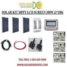 Solar Panel KIT Panneau Solaire 300 Watt (3 *100W) 40 MPPT Poly 12V brackets