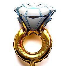 R33F1 not Helium balloon Folienballon Hochzeit Gold Ring Geschenk Diamanten Deko