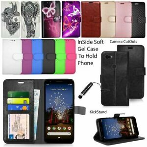 For-Google-Pixel-3-3A-3A-XL-Phone-Cover-Wallet-Leather-Case-Flip-Cover-Stylus
