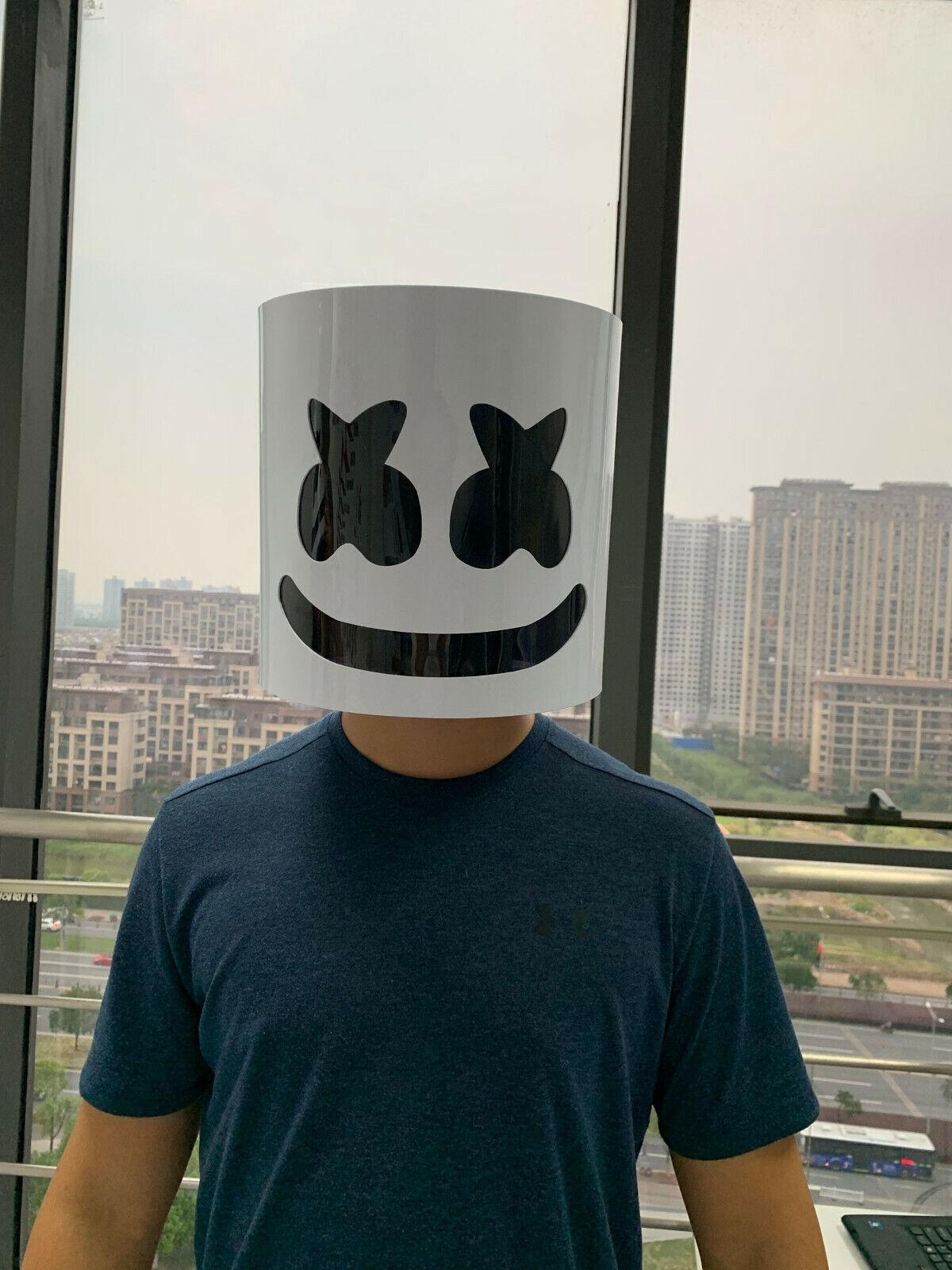 DJ Mask Music Festival Full Head Masks Helmet for Men Women Kids Thanksgiving Christmas Halloween White