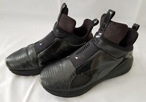 Womens Size 7 Fierce Metallic Black Puma Slip On Sneakers 189865 03 ... 15061ab58
