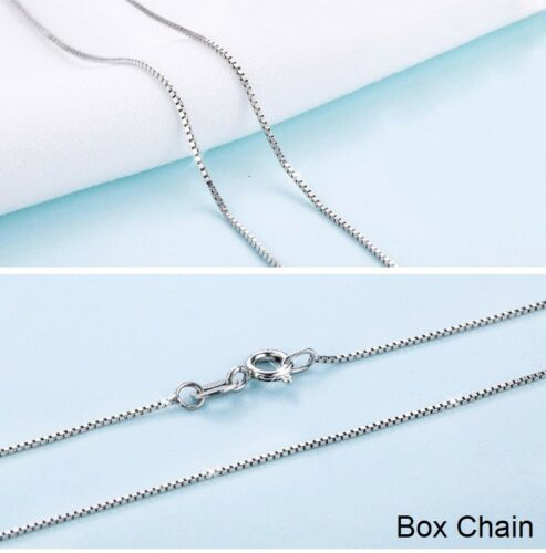 Real 14k White Gold Clad Solid Sterling Silver Fine Chain Necklace Italy 1.2mm