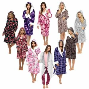 variety styles of 2019 select for authentic best supplier Details about Ladies Womens Dressing Gown Bathrobe Soft Warm Cosy Luxury  Hooded Wrap Winter