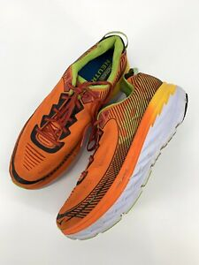 Hoka-One-One-Bondi-5-Red-Orange-Gold-Fusion-Shoes-Mens-Size-15