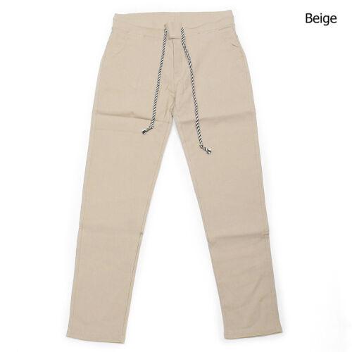 Men/'s Fashion Elastic Waistband Spandex Slim Slacks Pants 170 GENTLER SHOP