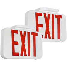 2 Pack Led Emergency Exit Sign Battery Backup Double Sided Red Letters