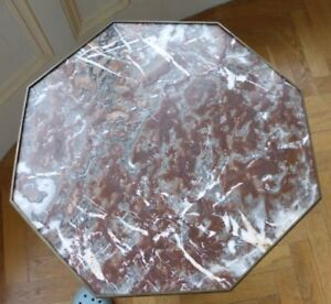Antique-octagonal-side-table-Victorian-marble-top-brass-ormulu-21-034-mahogany