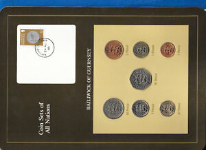 Coin-Sets-of-All-Nations-Guernsey-Brown-w-card-1979-1982-UNC-1-1981-Lily-24MR83