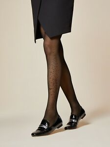 4a09ae6c703 Fiore Beloved Patterned Sheer to Waist Tights 30 Denier Fine Mesh ...
