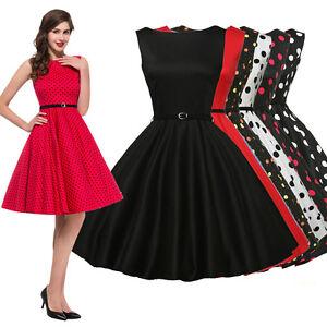 50er 60er jahre retro kleid vintage damen abendkleid partykleid swing dress ebay. Black Bedroom Furniture Sets. Home Design Ideas