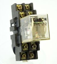 Omron relé ly2-0-dc24 10a 24v 650ohm DPDT 28x21.5x36 mm #706485