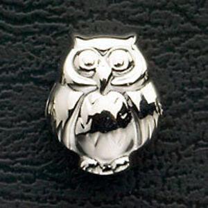 Owl-Stainless-Steel-Bead-Charm-Fits-European-Charm-Bracelet-Free-Shipping-Animal