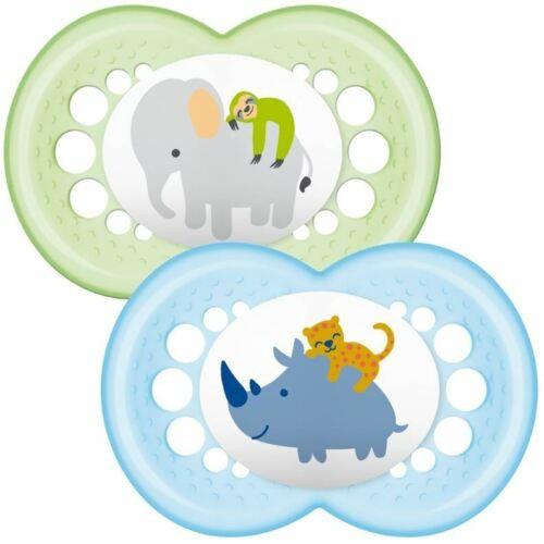 MAM Nature 6 Sucettes Rhino//éléphant NEUF