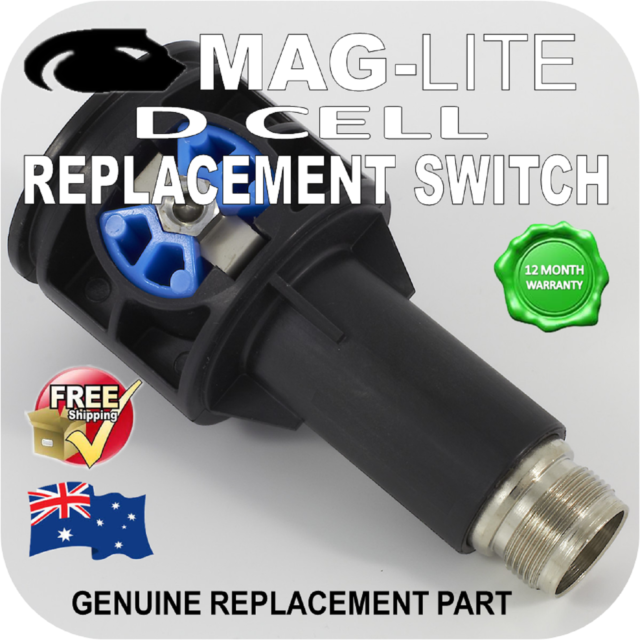 Maglite 108-000-208 Replacement Switch Assembly For 2-6 Cell D Flashlight