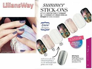 Avon nail art design stripsstick on nail wrapsdiy saloon worthy image is loading avon nail art design strips stick on nail prinsesfo Images