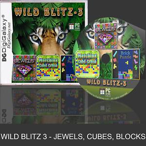 WildBlitz 3 Games - Cube Crush, Jewel Blast, Brick Puzzle (Windows 10)