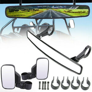 "1.75"" Breakaway Side /& Rear View Mirrors Set For UTV Polaris RZR800 XP900 XP1000"