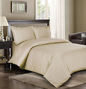 Royal Hotel's Striped Beige 300-Thread-Count 2pc Twin   Twin-Extra-Long Cotton,