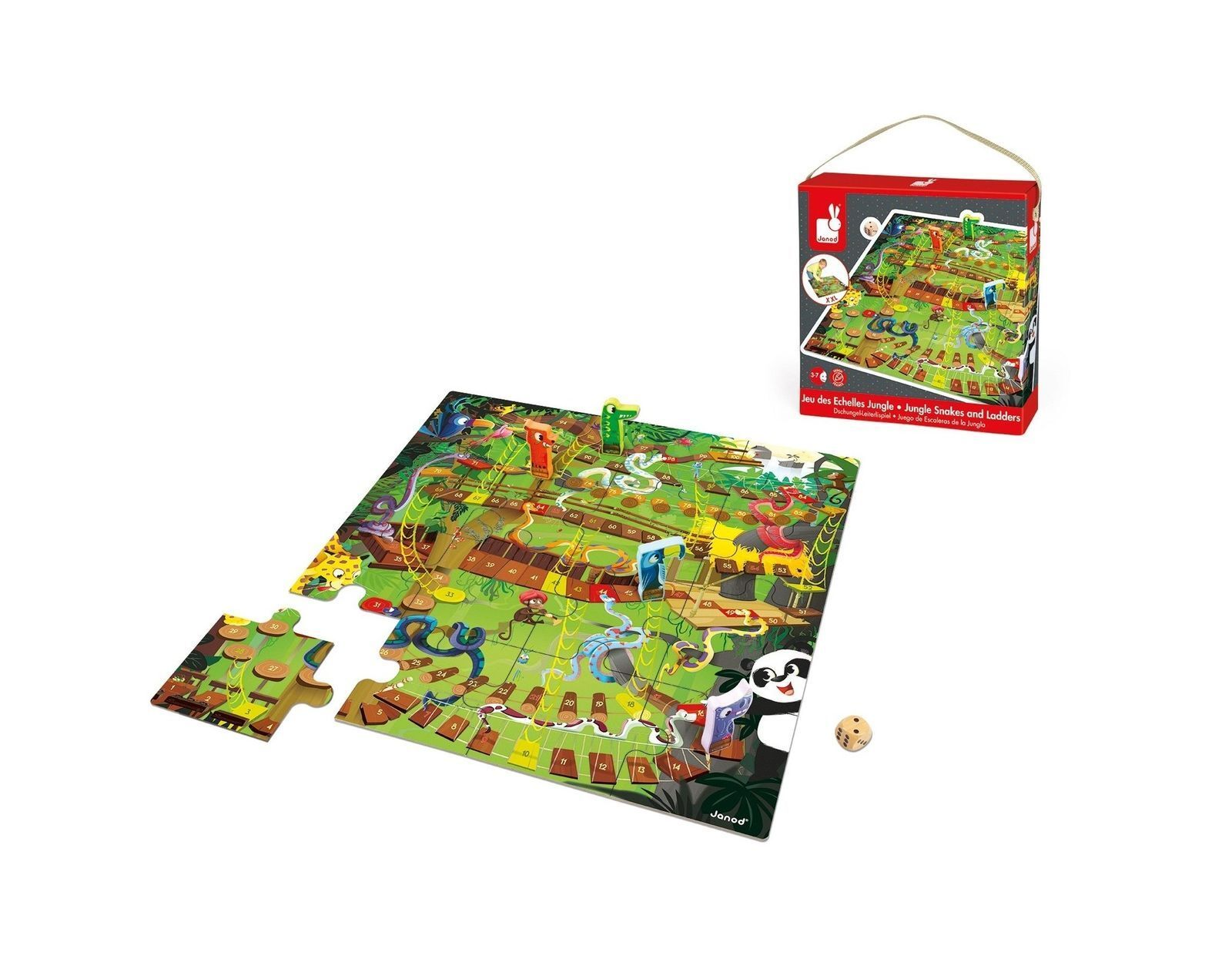77*79cm Kids Ludo Snakes and Ladders Giant Board Game Jigsaw Puzzle Floor Mat