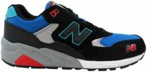 best authentic 0bc94 6815f Details about New Balance 580 Elite Pinball Suede Black/Blue-Red MRT580BF  Men's Size 8