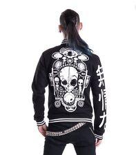 Heartless Alien Japanese Goth Punk Emo Black Varsity Jacket M