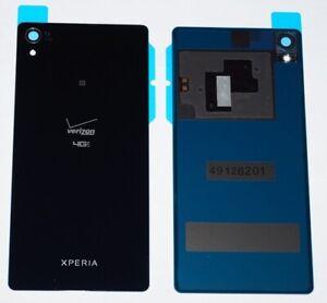 Original Sony Xperia Z3v D6708 Akkudeckel Battery Cover Schwarz NFC