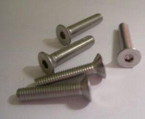 Nero A2 Acciaio Inox Presa Svasato Viti Allen Chiave Bulloni 6mm M6