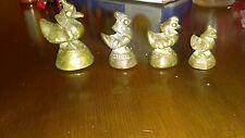 4  Nice Antique Brass/Bronze Burmese Opium Scale Weights Birds