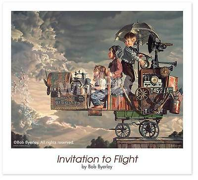 "Bob Byerley Invitation  to Flight Children/'s Airplane Print 20/"" x 16/"""