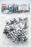 N Scale Gauge Busch Twenty (20) Snow Covered Pine Trees 6566